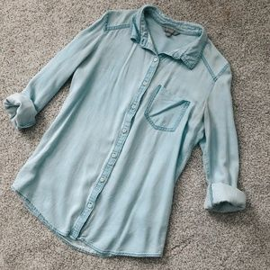 Rubbish Light Blue Chambray Button Down